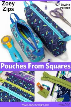 Awesome 50 Beginner sewing projects projects are offered on our internet site. Take a look and you wont be sorry you did. Sewing Hacks, Sewing Tutorials, Sewing Crafts, Sewing Tips, Small Zipper Pouch, Zipper Bags, Sewing Patterns Free, Free Sewing, Bag Patterns