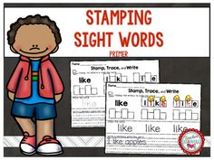 This packet is a fun way for students to practice and review sight words. Students will have fun stamping and tracing each sight word as well as using the word in a sentence. They will stamp the missing vowels, missing consonants, and then the entire word.