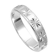Men S 14kt Yellow Gold Diamond Cut Wedding Band Jewelry Pinterest And