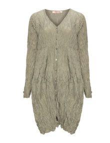 Privatsachen Crinkled silk coat  in Khaki-Green