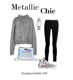 Come abbinare le #Converse argento. #outfit #allstar