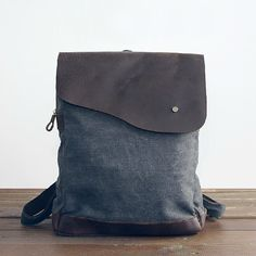 Hey, I found this really awesome Etsy listing at https://www.etsy.com/listing/166924446/leather-canvas-backpack-backpackcow