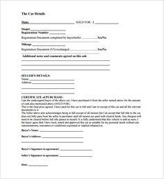 vehicle sales receipt