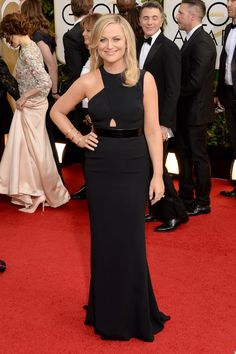 Amy Poehler  Dress by Stella McCartney on the 2014 Golden Globes Red Carpet #GoldenGlobes