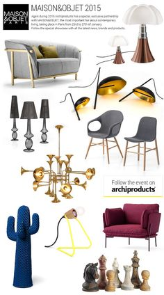 MAISON&OBJET 2015: news, brands and products - Again during 2015 Archiproducts has a special, exclusive partnership with Maison&Objet, the most important fair about contemporary living, taking place in Paris from 23rd to 27th of January. Follow the special showcase with all the latest news, brands and products @maisonobjet