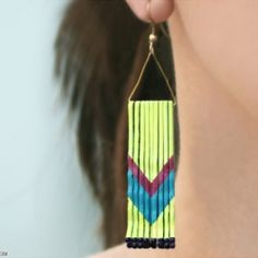DIY - Chevron earrings from bobby pins