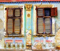 Shuttered windows, Serbia