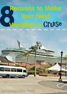 Cruising is the ultimate relaxation vacation. It's fun for the whole family! Here are 8 reasons why your next vacation should be a cruise. #ad