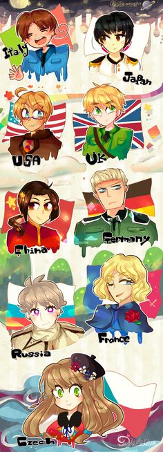 Axis Allies  Hetalia( .-.  )  by Momo-chee