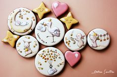 Dolce Sentire {Galletas decoradas}: Ya está aquí la cigüeña: Galletas de chocolate para bebés