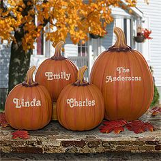 LOVE this personalized pumpkins for fall, Thanksgiving or Halloween! It's the perfect indoor our outdoor pumpkin décor! You can personalize a large or small pumpkin with any name you want!
