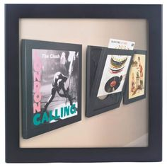 display your favourite vinyl record covers and get it out with a one finger touch that flips the front of the frame open genius and a must have