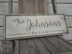 Personalized Family Name Sign. Last Name Wood Sign by Wildoaks