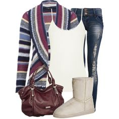 Stripes, created by charliiegurl on Polyvore