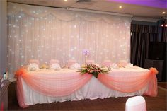 Top Table with Backdrop, Village Urban Resort Birmingham Walsall - Inspiration Gallery Wedding Venue Image