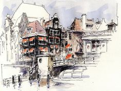 Rokin, Amsterdam, Urban Sketchers