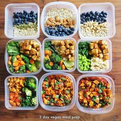 Vegan meal prep by @workweeklunch for those days you need a break from meat but still want to hit your macros! - Discover what your body needs for you to hit your body goals with @mealplanmagic - ALL-IN-ONE TOOL & GUIDES - Build Custom Plans & Set Nutrit #nutritionplantemplate #bodybuildingguide