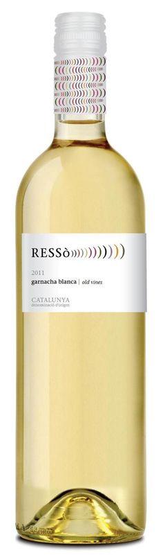 ressò, granatxa blanca, 2011 d.o.catalunya Wine Label Design, Wine Labels, Caves, Bottle, Recipes, Wine Tags, Flask, Recipies, Blanket Forts