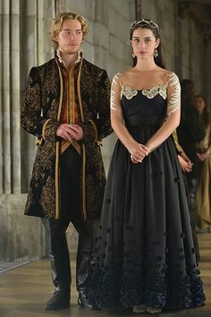 "Reign -- ""The Prince of the Blood"" -- Image Number: -- Pictured (L-R): Toby Regbo as King Francis II and Adelaide Kane as Mary, Queen of Scotland and France -- Photo: Ben Mark Holzberg/The CW -- © 2014 The CW Network, LLC. All rights reserved. Adelaide Kane, Mary Francis, Serie Reign, Reign Season 2, Marie Stuart, Elisabeth I, Reign Tv Show, Reign Dresses, Reign Fashion"