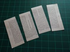Cut lots of 12.5 x 5cm rectangles