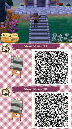 QR path: grey stone stairs w/ pebbled border Animal Crossing 3ds, Animal Crossing Qr Codes Clothes, Sand Drawing, Acnl Paths, Motif Acnl, Ac New Leaf, Stone Stairs, Happy Home Designer, Post Animal