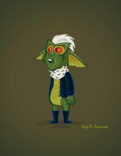 gremlin, ilustration, jorge d. Gremlins, Fictional Characters, Image, Art, Art Background, Kunst, Fantasy Characters, Art Education