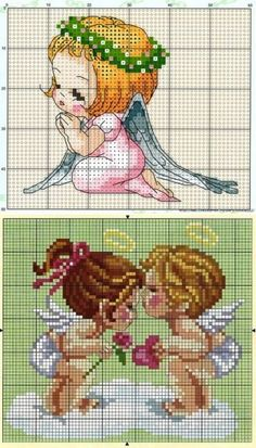 Схемы вышивки крестом ангелочки.Вышивка крестом ангел | Домоводство для всей семьи