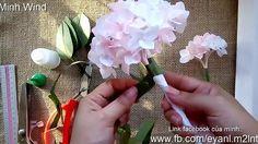 Hydrangea paper flower tutorial - Hoa cẩm tú cầu bằng giấy nhún ver 2016
