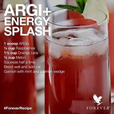 How yummy does this drink look I definitely can't wait to try it #‎ForeverRecipe #ARGI+