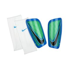 The Nike Mercurial Lite Soccer Shin Guards are designed with a tough yet  lightweight shell to help guard against the impacts of the game. A breatha…