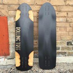 Rolling Tree Acedia Skate Longboard, Longboard Design, Balance Board, Longboarding, Skateboards, Snowboard, Surfboards, Woodworking Ideas, Hardware