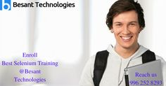 Most of the companies use Selenium for testing the application developed. So join best #selenium# training at Besant Technologies and get placed soon