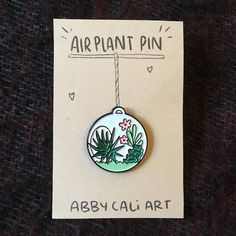 Air Plant Enamel Pin by abbycaliart on Etsy