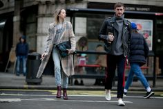 Mixed prints, bright toppers and chic suiting fuel our winter style inspo as showgoers hit the streets at Men's Fashion Week
