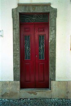 red  red door