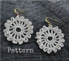 Crochet EARRINGS Pattern Crochet Pattern Crochet by Liloumariposa