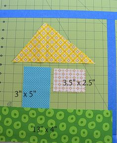 The Sewing Chick | Wonky House Block Tutorial