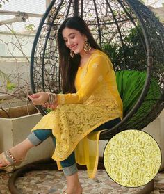 Casual Indian Fashion, Indian Fashion Dresses, Indian Designer Outfits, Indian Outfits, Fashion Outfits, Mehendi Outfits, Blackpink Fashion, Indian Attire, Indian Clothes