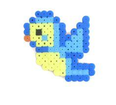 Blue bird badge hama perler beads decorative by KimsHandmadeCave, £2.50