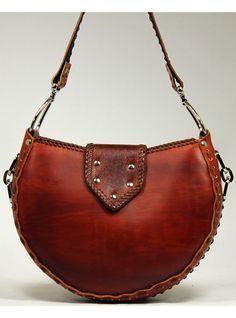 Tooled Leather Handbag Keystone by kearajean on Etsy