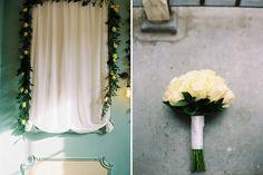 Classic White Roses | Kobus Dippenaar Wedding Dress | White Colour Scheme | Traditional English Wedding | Twobirds Bridesmaid Dresses | Norfolk Arms Hotel in Arundel | Peachey Photography | http://www.rockmywedding.co.uk/natasha-simon/