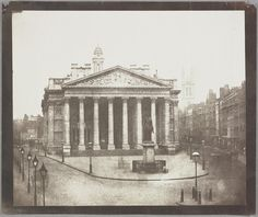 """William Henry Fox Talbot, """"The Royal Exchange, London"""" (winter 1844 to spring 1845)"""