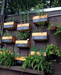 Horta com ervas - Conheci a Casa S que pertence à S Simplesmente focada em alimentação saudável, com opções de comida vegetariana, sem glúten e sem lácteos.