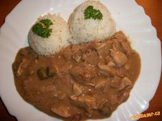 Czech Recipes, Stew, Czech Food, Good Food, Rice, Chicken, Meat, Healthy Food, Laughter