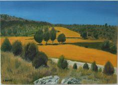 Aldehuela (Teruel) Óleo sobre lienzo, 33 x 46 cm.  Amparo Ramis