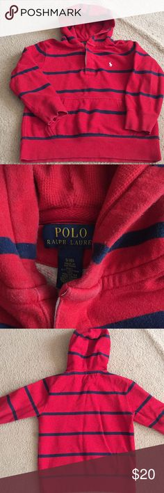 Boys Polo pullover hoodie Big boys Polo Ralph Lauren hoodie. Too small for my son but still in good condition. Polo by Ralph Lauren Shirts & Tops Sweatshirts & Hoodies