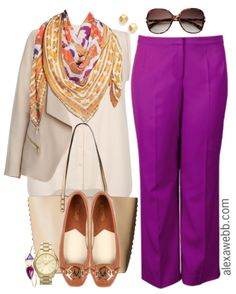 Happy Monday!  How great are these plus size bright slacks by Anna Scholz?  Pair them with a bright scarf and neutrals, like this beige blazer.  Or add more bright colors and do some color-blocking.  Go here for some color theory.  And I love oversized sunglasses with the wide leg trousers for a nod to the… Read More