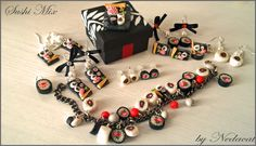 Sushi Mix Polymer Clay Jewelry by ~Nedacat on deviantART