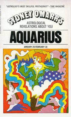 John Alcorn, Zodiac, 1969. Cover illustration for Sydney Omarr's Astrological book series.