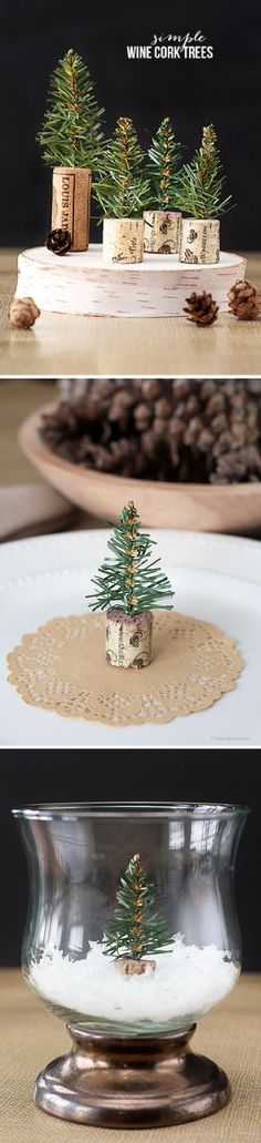 These DIY wine cork trees from Blogger Kelly, of Live Laugh Rowe, would make a great tabletop centerpiece this holiday season. Sprinkle this adorable homemade decoration throughout your home to make every room feel like a winter wonderland. For more easy home decor ideas, click here.